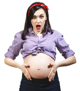Happy Young Funny Pregnant Woman