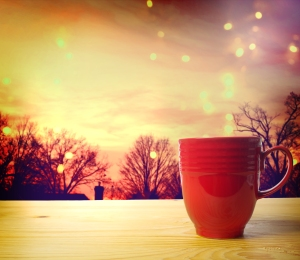 Coffee Cup On Twilight Background