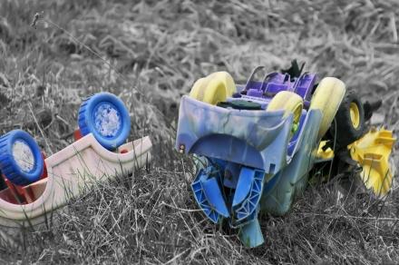 Toy Cars Crashed